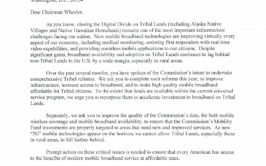 2015 Senator Cantwell Letter on Rural Broadband